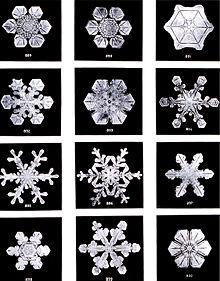 """Des cristaux """"d'eau"""" source: wikipédia"""